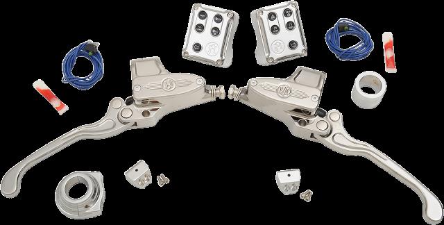 "PM Chrome Hydraulic 9/16"" Handlebar Control Kit for 11-19 Harley Softail XL FXS"