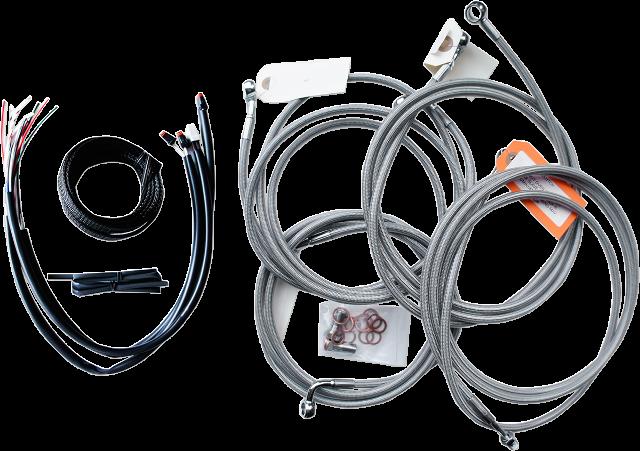 "La Choppers ABS Braided 18""- 20"" Ape Hanger Handlebar Cable Kit 2016 Harley FLHX"