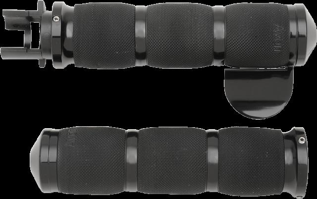 "Avon Air Cushion Black Throttle Boss 1"" Motorcycle Grips 14-17 Indian Chieftain"