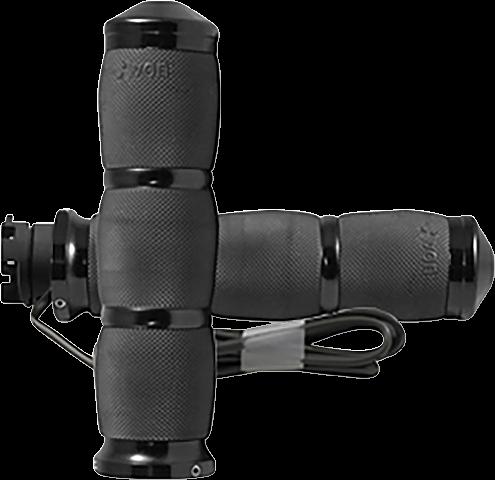 """Avon Black Air Cushion 1"""" Heated Handlebar Grips for 15-19 Indian Scout FTR1200"""