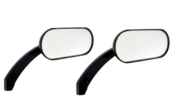 Drag Specialties Hotop Gloss Black Screw in Motorcycle Handlebar Mirror Set