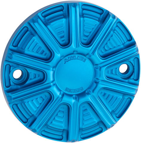 Arlen Ness Blue 10 Gauge 2 Hole Points Cover 18-20 Harley Touring Softail FXDR
