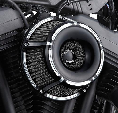 Arlen Ness Black Inverted Air Cleaner Filter 88-19 Harley Sportster XLL XLN XLH