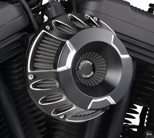 Arlen Ness Black Inverted Air Cleaner Filter Kit for 88-19 Harley Sportster XLL