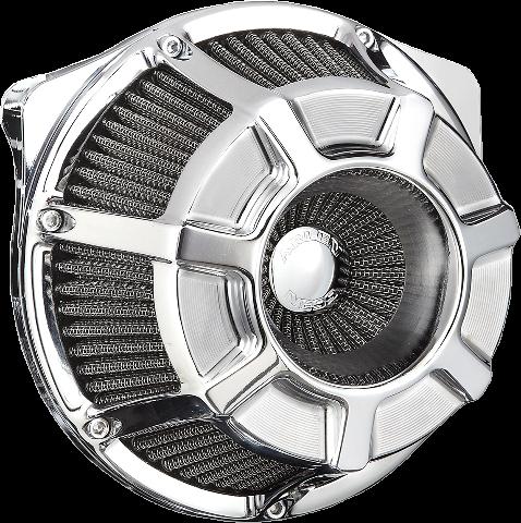 Arlen Ness Chrome Beveled Inverted Air Cleaner Filter Kit 99-17 Harley Touring