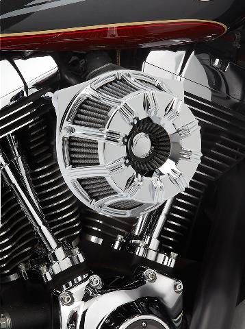 Arlen Ness Chrome 10 gauge Air Cleaner Filter 08-17 Harley Touring Softail FLHX