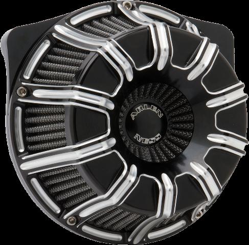 Arlen Ness Black 10 gauge Air Cleaner Filter 08-17 Harley Touring Softail FLHX