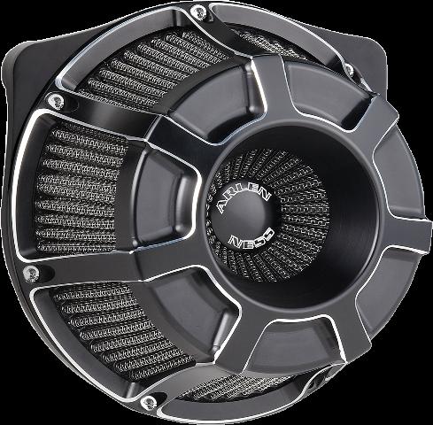 Arlen Ness Black Inverted Air Cleaner Filter Kit for 17-19 Harley Touring FLHX