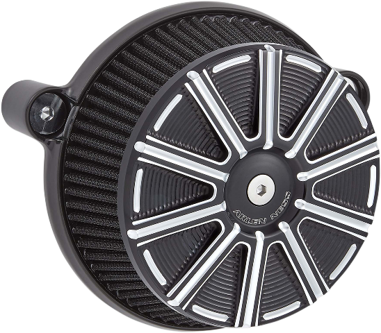Arlen Ness 10 Gauge Black Big Sucker Air Cleaner Filter Kit 17-19 Harley Touring