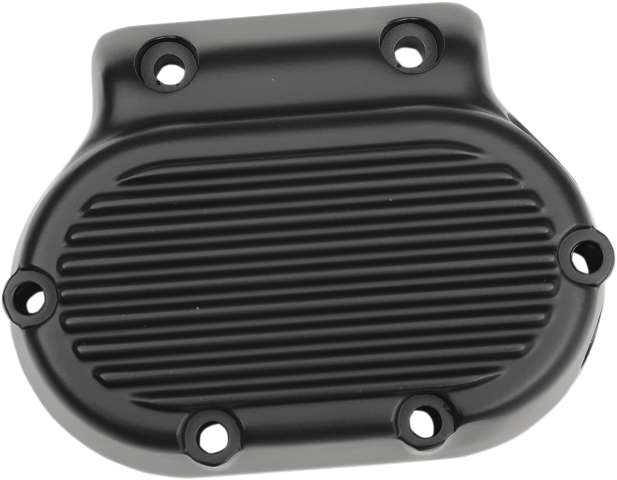 Drag Specialties Black Finned Transmission End Cover 87-06 Harley Dyna Softail