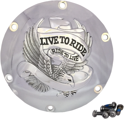 Drag Specialties Chrome 6 Hole Live to Ride Derby Cover 04-20 Harley Sportster