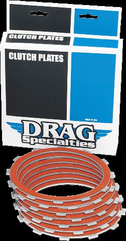 Drag Specialties Organic Clutch Plate Kit 84-90 Harley Davidson Sportster XLH