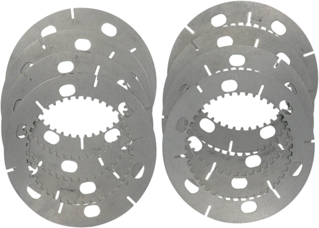 Drag Specialties 8 Steel Clutch Plate Kit for 71-84 Harley Sportster XLCH XLX
