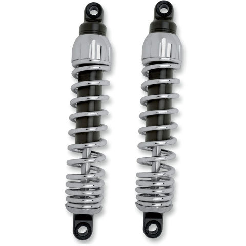 "Progressive 444 Chrome 12.5"" Rear Shocks for 91-17 Harley Dyna FXDWG FXDC FXDB"