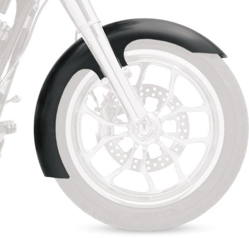 "Klock Werks Black 21"" Slicer Front Fender for 86-13 Harley Dyna Softail FXST"