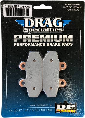 Drag Specialties Sintered Rear Brake Pads for 18-19 Harley Davidson Softails