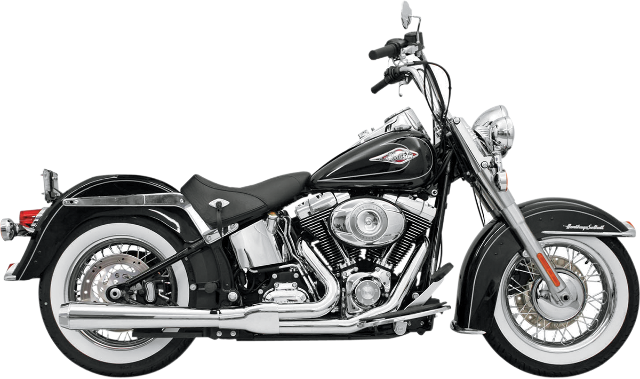 Bassani Chrome Road Rage 2-1 Long Exhaust for 86-17 Harley Softail FLSTN FLSTF