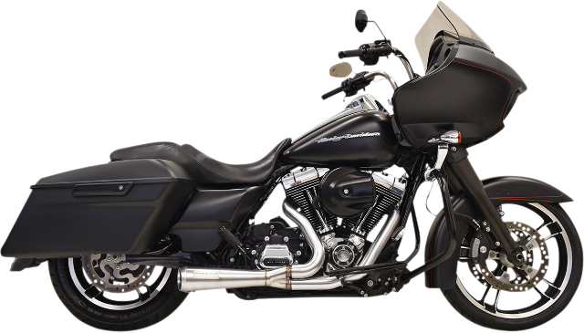 Bassani Stainless Steel 2-1 Short Road Rage Exhaust 95-16 Harley Touring FLHX