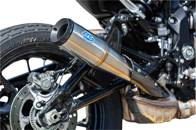 S&S Grand National Stainless Steel Slip on Muffler for 2019 Indian FTR 1200