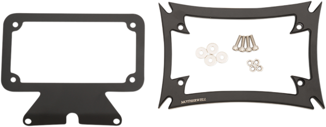 Motherwell Maltese License Plate Frame & Backing Plate for 09-19 Harley Touring
