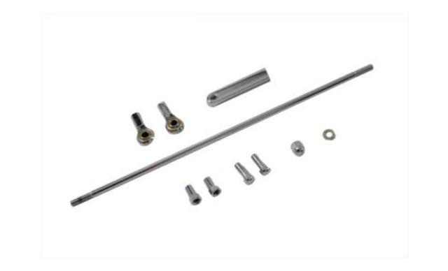 "VTwin Chrome Forward Control 14-1/5"" Shifter Rod Kit for Harley Davidson"