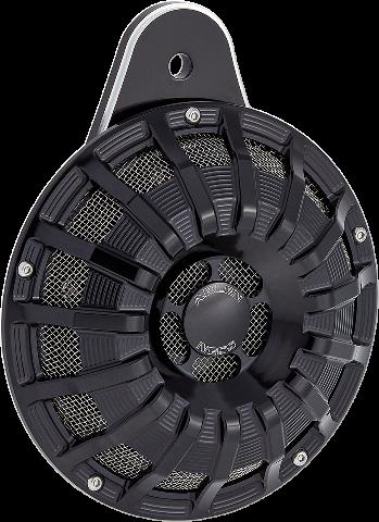 Arlen Ness Black 15 Spoke Electric Horn Kit 99-20 Harley Twin Cam & M-Eight