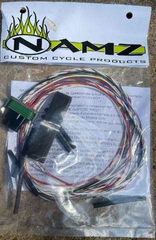 Namz Motorcycle Speedo & Instrument Extension Harness for 15-21 Harley Touring