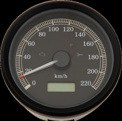 Drag Specialties Electronic KMH Speedo Speedometer 99-03 Harley Sportster Dyna