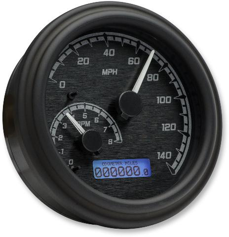 Dakota Digital MVX Black Tank Mounted Speedometer 04-13 Harley Touring Softail