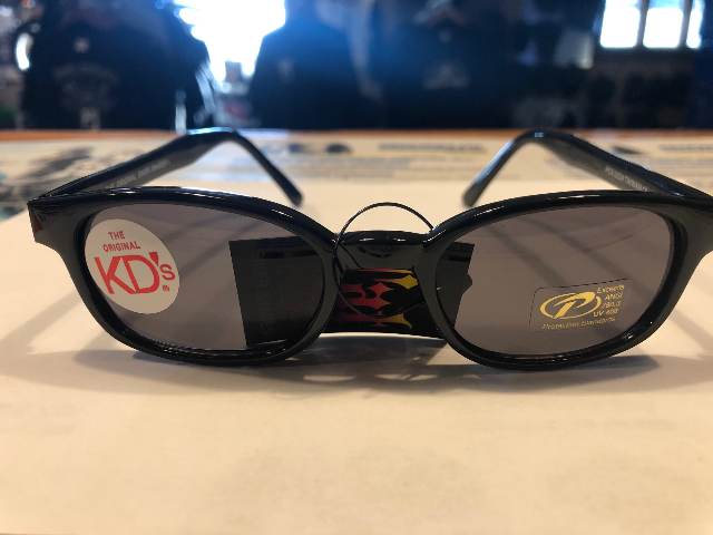 KD's Original Black Barbwire 1 Pair Smoke Lens Old School Biker Sunglasses 2224