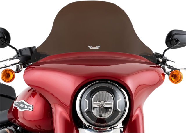 "Slipstreamer 10"" Dark Smoke Motorcycle Fairing Windshield 18-20 Harley Softail"