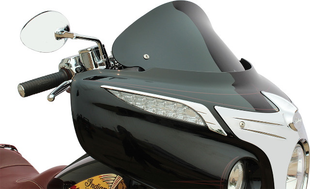 """Klock Werks Black Front Flare 10"""" Fairing Windshield for 14-19 Indian Chieftain"""