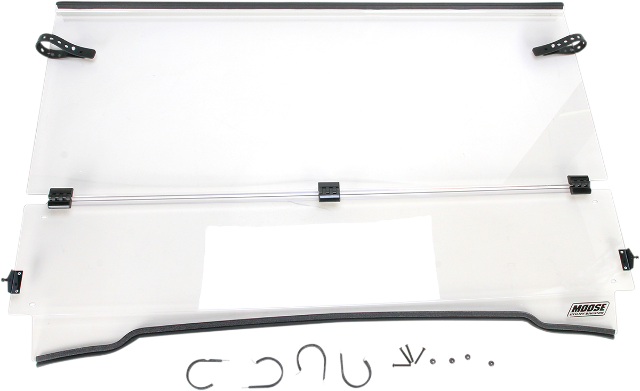 Moose Clear Full Folding UTV Front Windshield for 00-08 Kawasaki Mule 3010 4x4