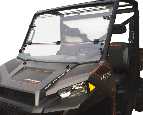 Polaris Ranger Windshield >> Details About Moose Hard Coated Full Folding Windshield 09 19 Polaris Utv Ranger 570 1000