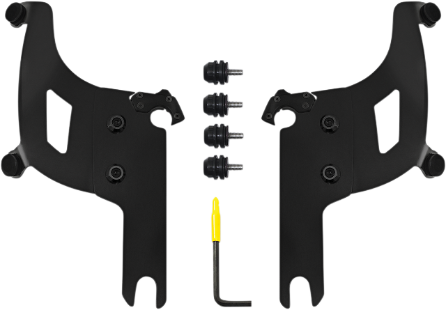 Memphis Shades Bullet Fairing Black Mounting Kit for 04-19 Harley Touring FLHRS