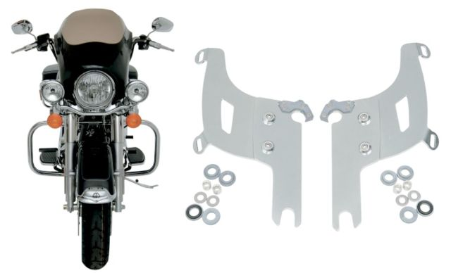 Memphis Shades Bullet Fairing & Polished Mount Kit for 94-19 Harley Road King