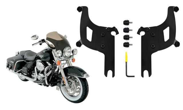 Memphis Shades Bullet Fairing & Black Mount Kit for 04-19 Harley Road King