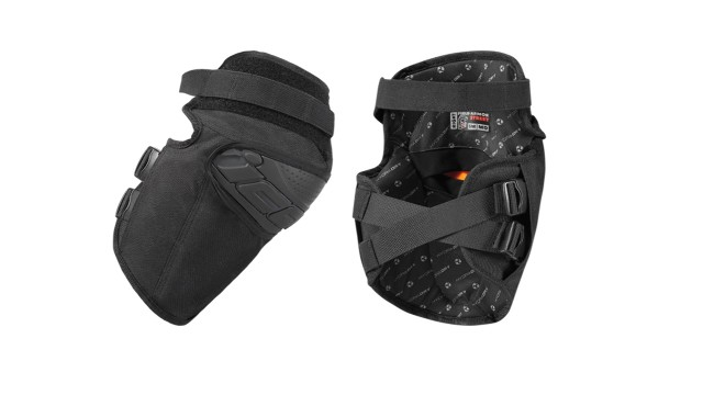 Icon Black Field Armor Textile Motorcycle Riding Street Racing Knee Guards