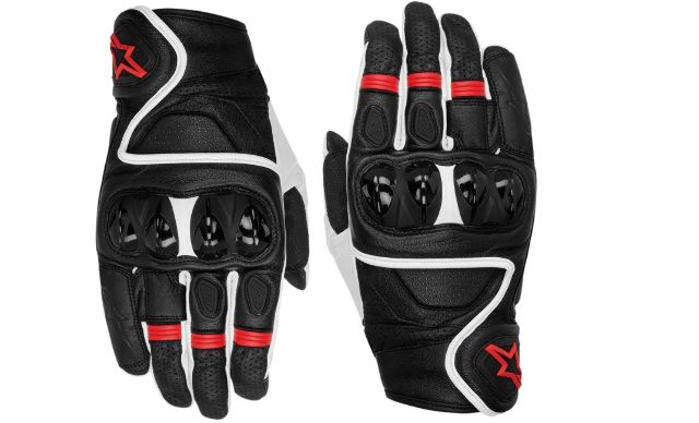 Alpinestars Celer Mens 3X Black Red Motorcycle Riding Street Racing Gloves