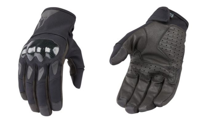Icon Stormhawk Mens Pair Black Motorcycle Riding Street Racing Gloves