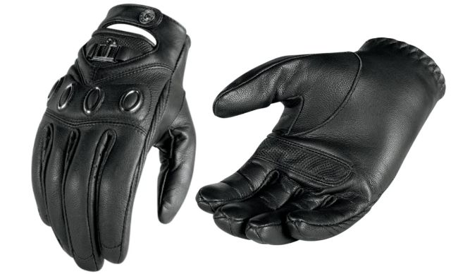 Icon Hella Womens Black Short Cuff Medium Motorcycle Riding Street Racing Gloves