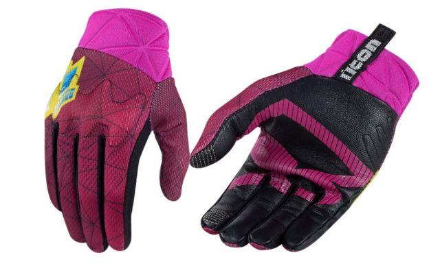 Icon Anthem Blender Womens Pink Motorcycle Riding Street Racing Medium Gloves