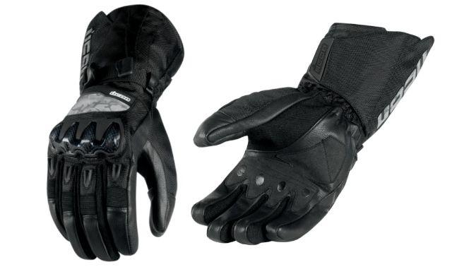 Icon Patrol Adult Pair Mens Black Large Motorcycle Riding Street Racing Gloves