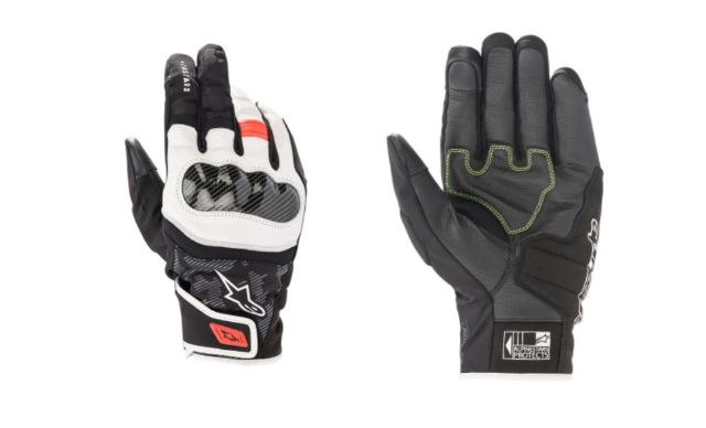 Alpinestars SMX-Z Mens Black White Red Motorcycle Riding Street Racing Gloves
