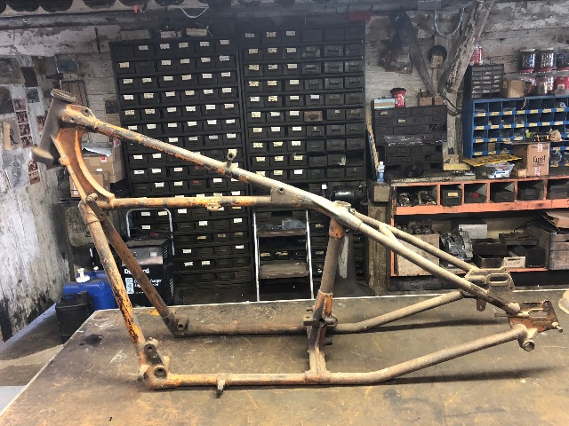Original 1934 Indian Chief Motorcycle Hardtail Frame
