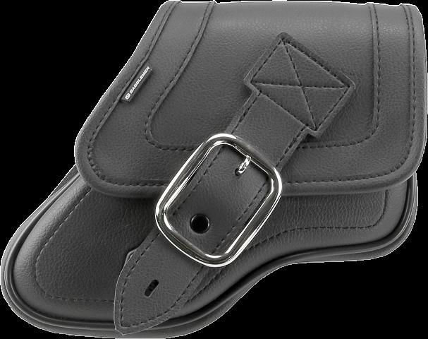 Saddlemen Black Leater Swingarm Bag 96-05 Dyna FXD FXDWG Super & Wide Glide