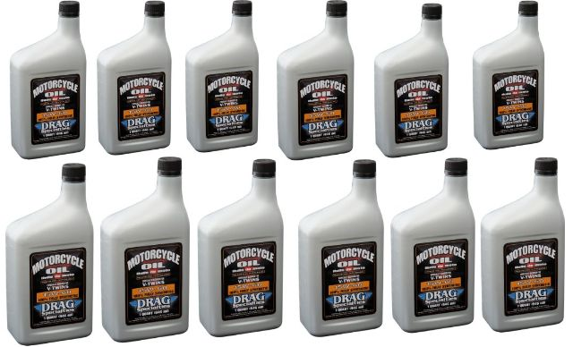 Drag Specialties 12qt Synthetic Base Case 15W60 Motorcycle Engine Oil for Indian