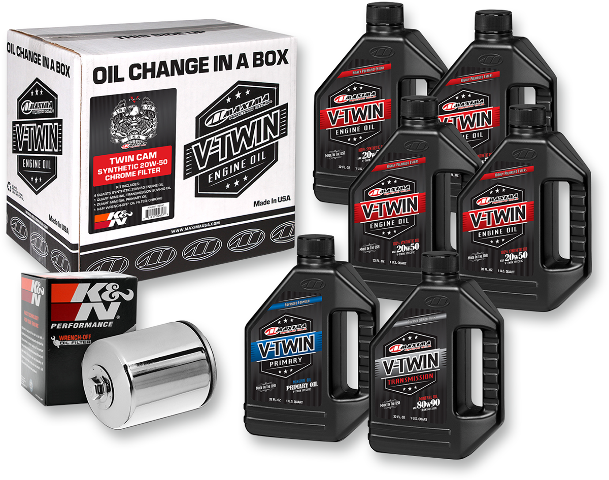 Maxima Racing Complete Synthetic Oil Change Kit 99-17 Harley Dyna Touring FXST