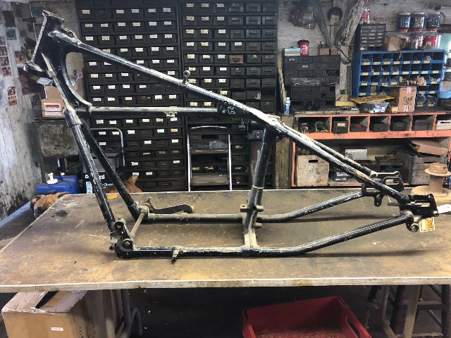 Original 1936 Indian Chief Motorcycle Hardtail Frame