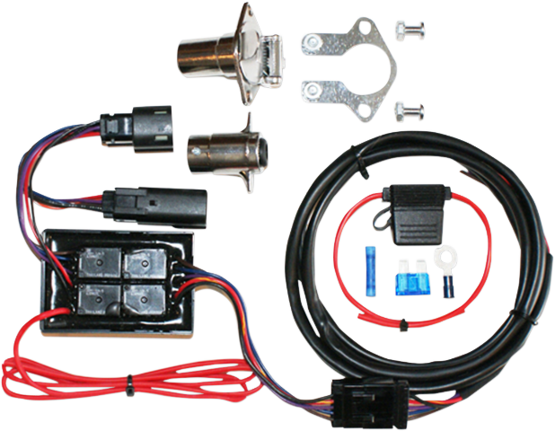 khrome werks trailer wiring harness 14-15 harley davidson touring flht flhr  | ebay  ebay